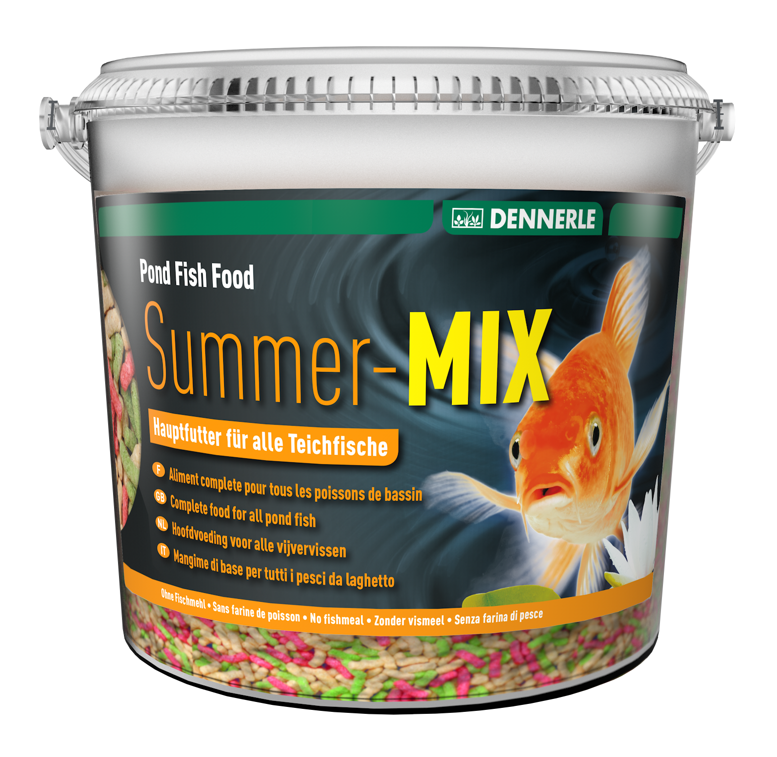 Pond fish food summer mix dennerle for Pond fish food